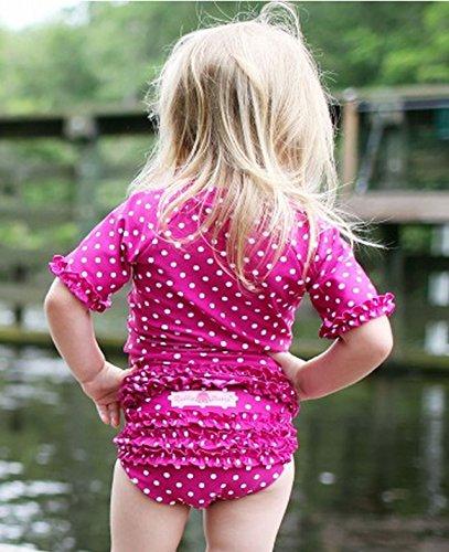 RuffleButts ラッフルバッツ水着 Berry 18-24m UPF50+ ラッシュガード Berry Polka Dot Ruffled Rash Guard Bikini (18-24m(80), Berry(ベリー)) [並行輸入品]