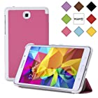 WAWO Creative Tri-fold Cover Case for Samsung Galaxy Tab 4 7.0 Inch Tablet - Rose Red