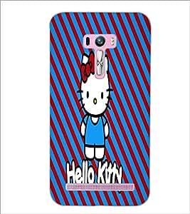 PrintDhaba Hello Kitty D-5609 Back Case Cover for ASUS ZENFONE SELFIE ZD551KL ULTRA (Multi-Coloured)