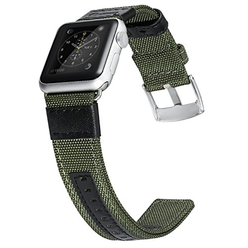 Apple Watch Series 2 Band, Benuo Premium Nylon Woven Smart Watch Replacement, 42mm Wrist Strap with Adjustable Buckle for New Apple iWatch Series 2/ Apple Watch Series 1/Nike+ (Green, 42mm) 0