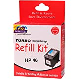 Turbo Refill Kit For HP 46 Black Ink Cartridge