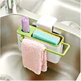 Swarish kitchen Self Draining Sink Tidy Organizer Brush Sponge Cleaning Cloth Holder With Suction Cup