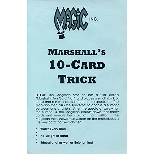 MMS Marshall's Ten Card Trick - Trick