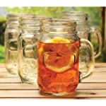 Wine Enthusiast Set of 4 Mason Jar Glass