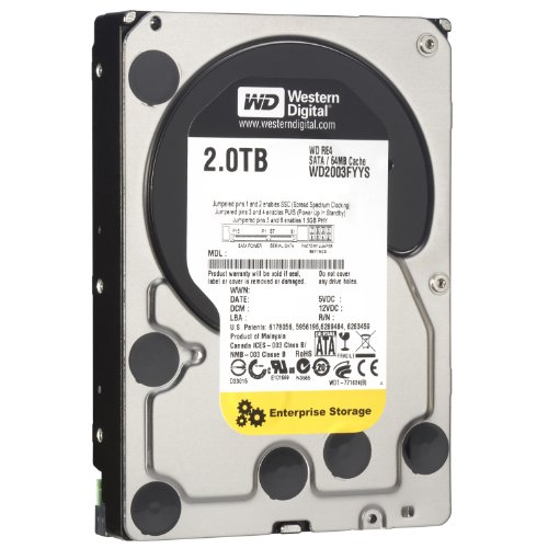 WD RE4 2 TB Enterprise Hard Drive: 3.5 Inch, 7200 RPM, SATA II, 64 MB Cache - WD2003FYYS