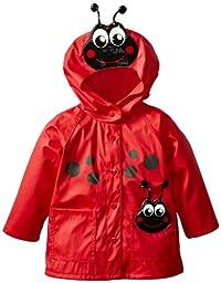 Western Chief Girls\'  Ladybug Rain Coat, Red, 5