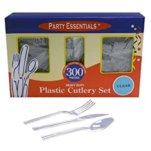 Party Essentials Heavy Duty Plastic Cutlery