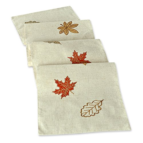Inspired treasure thanksgiving embroidered table runner