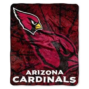 NFL Arizona Cardinals Roll Out Royal Plush Raschel Throw Blanket, 50x60-Inch
