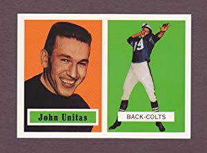 John Unitas 1957 Topps Football Archives Rookie Reprint (Baltimore Colts)