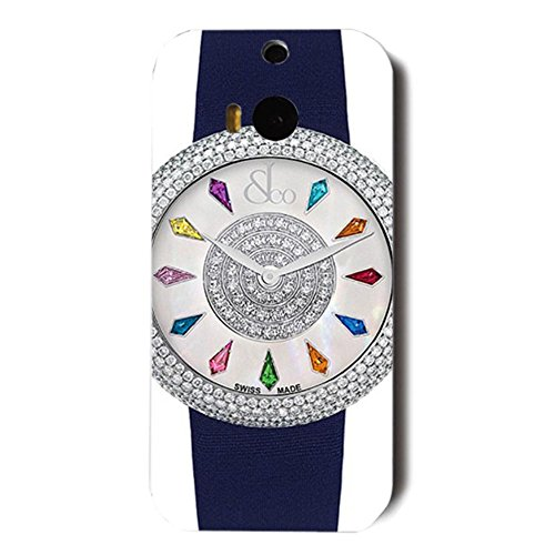 jacob-co-watches-ladies-collection-customized-thin-durrable-plastic-3d-case-cover-l6m045-for-htc-one