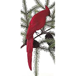 10 In the Birches Red Cardinal Bird Christmas Ornament