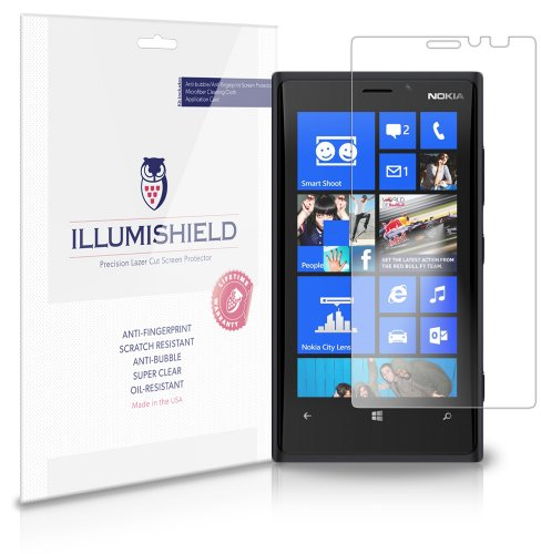 Illumishield - Nokia Lumia 920 Screen Protector Japanese Ultra Clear Hd Film With Anti-Bubble And Anti-Fingerprint - High Quality (Invisible) Lcd Shield - Lifetime Replacement Warranty - [3-Pack] Oem / Retail Packaging