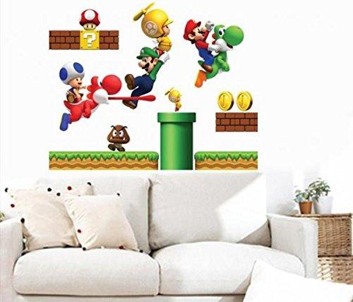 Super Mario bros Boy Room Kids Room Nursery Art Decal Wall Stickers # WALL002