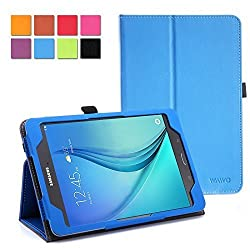 WAWO Samsung Galaxy Tab S2 8.0 Case - Classic PU Leather Creative Smart Cover Folio Case for Samsung Galaxy Tab S2 8-inch Tablet - Blue