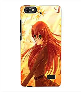 ColourCraft Beautiful Girl Design Back Case Cover for HUAWEI HONOR 4C