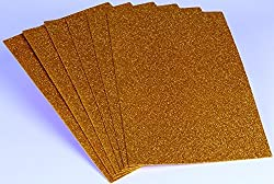 Pack of 6 A4 Size Glitter EVA Foam Sheets for Creative DIY Arts & Crafts, Party Decorations, Scrapbooking, School Crafts, Hobby Purposes - Color: Golden