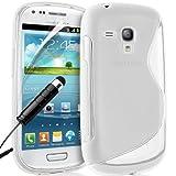 Samsung Galaxy S III 3 S3 Mini i8190 Custodia cover case S-Line TPU protezione morbida - Trasparente + Pennino...