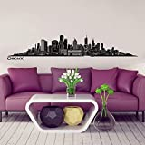 Wandkings® Skyline wall sticker wall decal - 48.8 x 8.7 inch in black - Your city selectable - CHICAGO