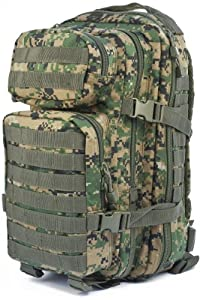 Military Assault Pack Tactical Rucksack MOLLE Travel 20L MARPAT Digital Woodland