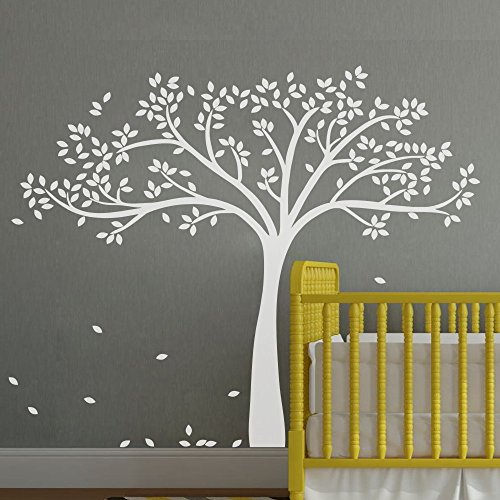 monochromatic-fall-tree-extended-wall-decal-tree-wall-sticker-vinyl-tree-decal-nursery-wall-art-deco