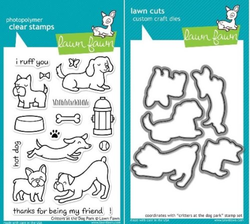 Lawn Fawn Critters At The Dog Park Clear Stamp and Die Set - Includes One Each of LF515 (Stamp) & LF520 (Die) - Custom Set ambulance doctor nurse vintage custom picture logo luxury wax seal sealing stamp brass peacock metal handle gift set