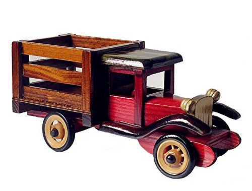 Vintage Handmade Wooden car model Home Furnishing decoration--R