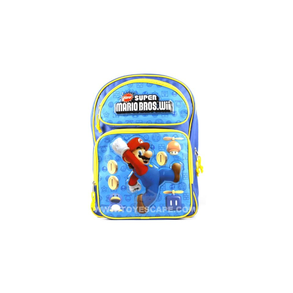 Super Mario Bros Wii Large Backpack