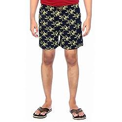 Aaduki Men's Cotton Shorts_Blue-M