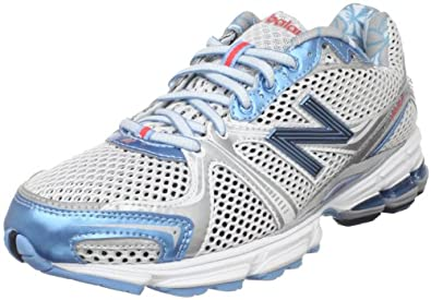 New Balance Women's W880 Running Shoe,Grey/Blue Coral,8 B US