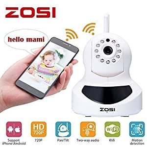 ZOSI Baby Monitor 720P HD Wi-Fi Wireless