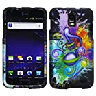 Colorful Splash Music Symbol Rubber Feel 2 Piece Snap On Hard Case Faceplate for Samsung Galaxy S2 Skyrocket SGH-I727 /AT&T + Dragoncell Screen Protector Film (Bonus Free Stylus Pen)