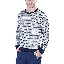 Zobello Men's Sweatshirt (21013B_Ecru_Small)