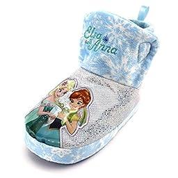 Frozen Elsa Anna Girls Boot Slippers (L (7/8) M US Toddler)