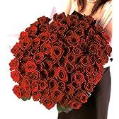 花のギフト社 赤バラ花束 100本フラワーギフト 【チルド便でお届け】