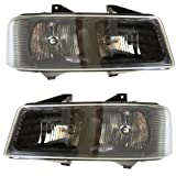 2003-2013 Chevrolet/Chevy Express & GMC Savana Van (1500, 2500, 3500, 4500) Composite Headlight Headlamp Front Head Light Lamp Pair Set Right Passenger And Left Driver Side (03 2003 04 2004 05 2005 06 2006 07 2007 08 2008 09 2009 10 2010 11 2011 12 2012 13 2013)