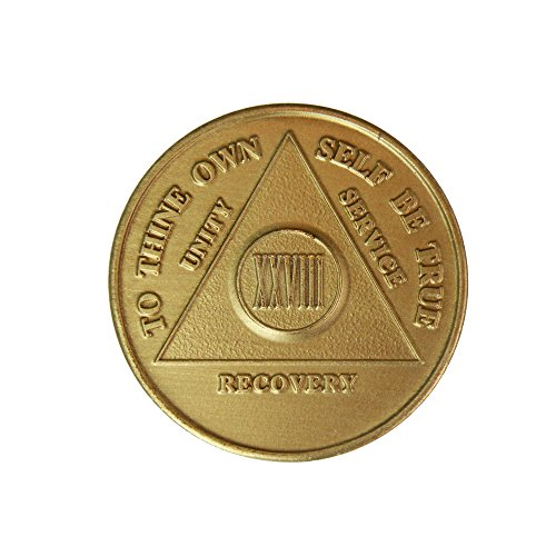 28 Year Bronze AA (Alcoholics Anonymous) - Sober / Sobriety / Birthday / Anniversary / Recovery / Medallion / Coin / Chip