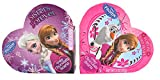 Disney Frozen Valentine Heart BOX w/ Crispy Chocolaty Hearts 2-pack