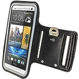 **Premium** Reflektierende Anti-Rutsch Neopren Sports Armband Oberarmtasche Tasche Schutz H�lle Etui Case f�r HTC One M7 Android Smartphone Schwarz von Avcibase