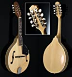 Akustik Mandoline Linde Hell Bluegrass Flachmandoline mit Rosenholz Griffbrett