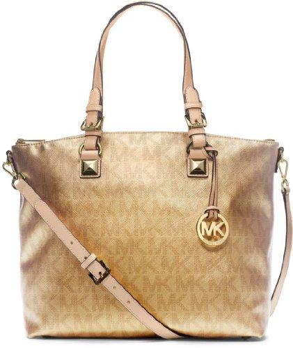 Michael Kors 30H3Mtts9B Jet Set Multifunction Women'S Tote Handbag Gold
