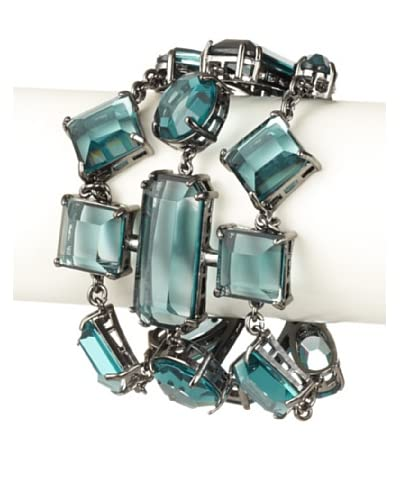 CC Skye Teal Glass Shield Bracelet