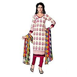 Gorgeous stylish in unstitched printed Synthetic Chudidhar