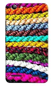 Omnam Pattern Made Of Colorful Ropes Printed Designer Back Cover Case For Lenovo Vibe K5 Plus