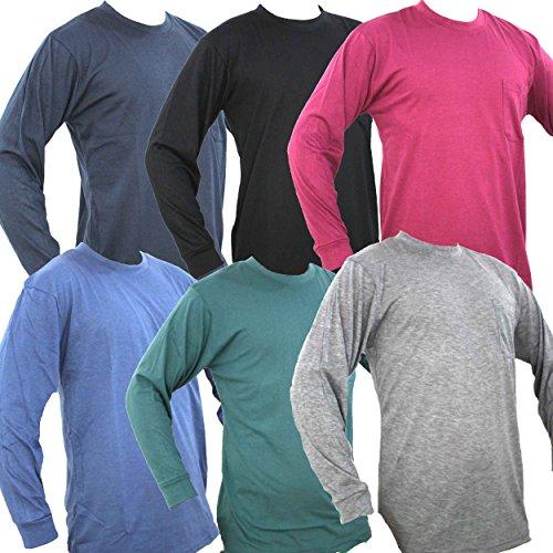 長袖 Tシャツ メンズ シャツ 無地 カットソー ゆる シンプル デザイン 秋 紳士 吸汗 速乾 スポーツ などにも (03 ネイビー LL)