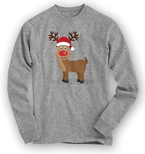 christmas-sweatshirt-15-rentier-weihnachten-santa-claus-nikolaus-pullover-pulli-farbegraumeliert-hea