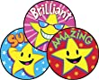 60 x Superstars Scratch 'n Sniff Stickers (Caramel scented)