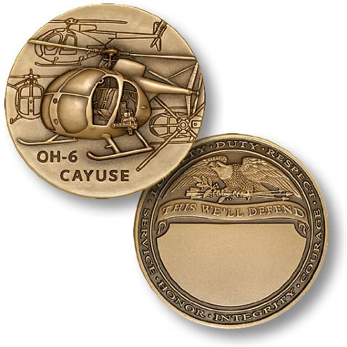 OH-6 Cayuse Engravable Challenge Coin - 1