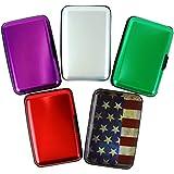 Aluminum Aluma Hard Case Credit Cards Wallet (Assorted 5 Pack)