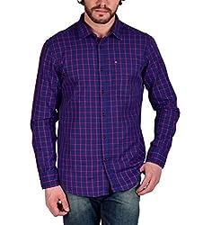 Enryca Men's Casual Shirt(ENMSH 0083BLUE -XXL_Blue_46)